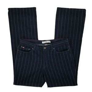 Tommy Hilfiger Hipster Bootcut Pinstripe Jeans 8
